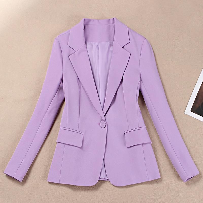 Traje pequeño traje femenino temperamento Traje púrpura chaqueta de mujer ajustadas coreanas profesionales de otoño 2019