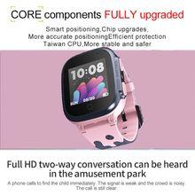 Reloj inteligente para Niños SOS un botón de ayuda llamada bidireccional monitoreo remoto correa de silicona reloj inteligente