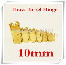 10 stks 10mm Messing Vat Scharnier Cilindrische Verborgen Kast Scharnieren Verborgen Onzichtbare Mortise Mount Scharnier