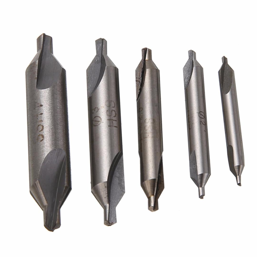 5 peças hss centro combinado brocas bits 60 graus bancada broca conjunto mayitr 1.5mm 2.0mm 2.5mm 3mm 4mm para ferramentas elétricas