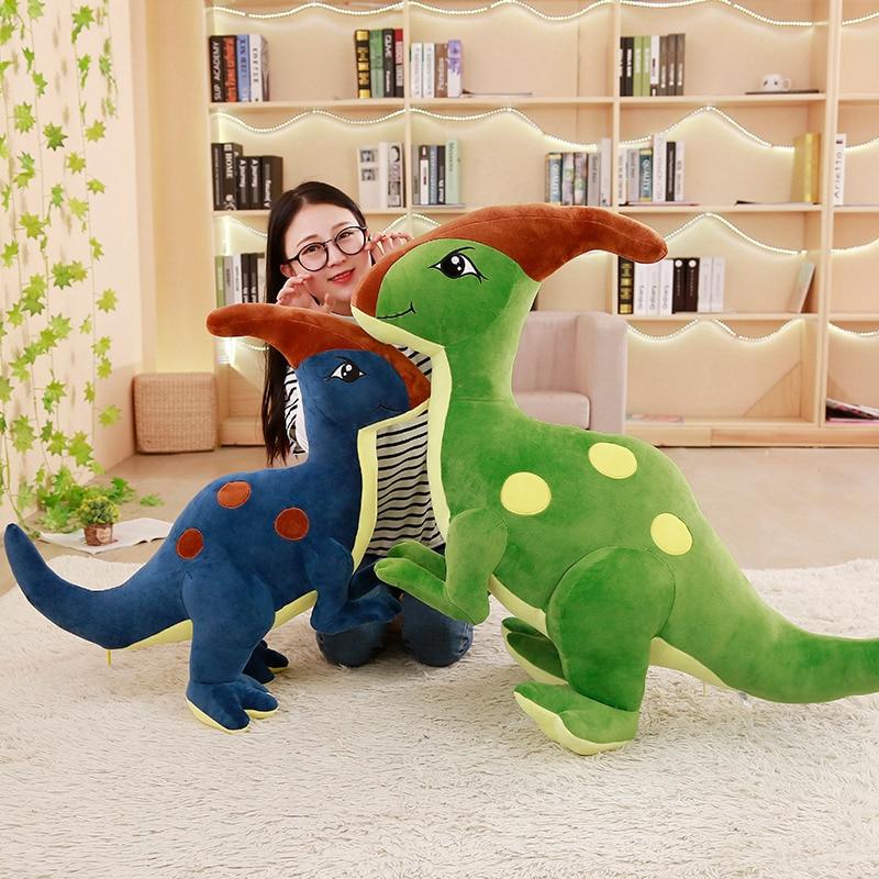 1pc 55-95cm Cute Dinosaur Plush Toys for Children Stuffed Animal Parasaurolophus Doll Cartoon Cute Dolls for Kids Birthday Gift