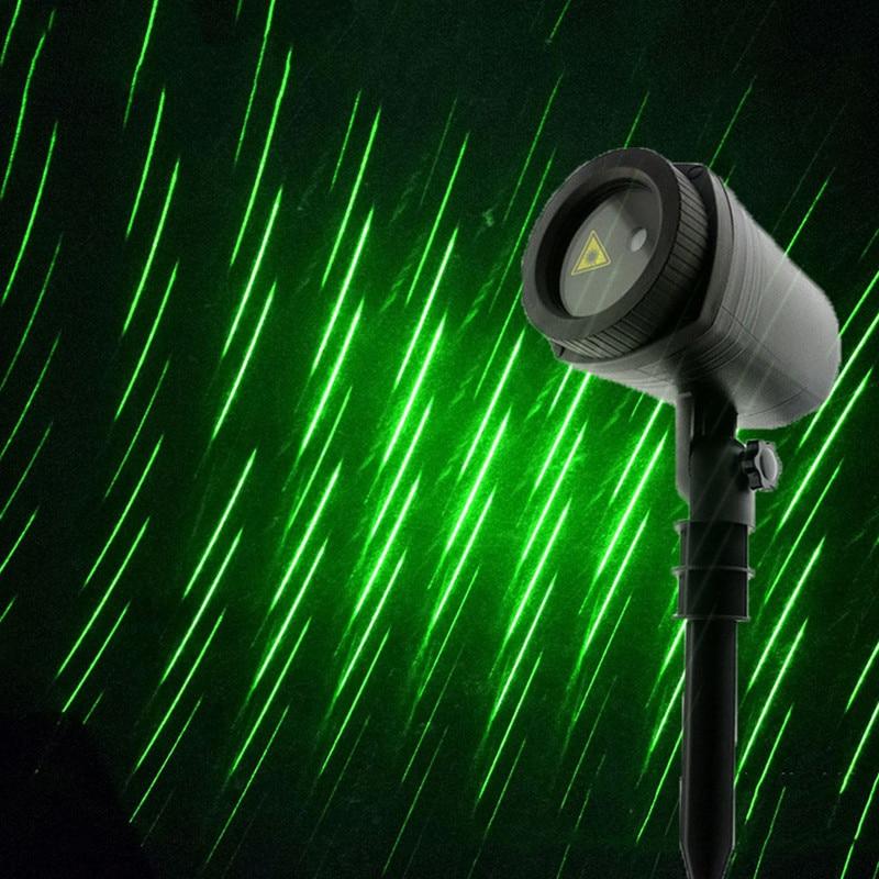 Mereor ducha lluvia Navidad proyector lámpara boda fiesta vacaciones estrella lluvia láser proyector etapa luz hogar exterior jardín