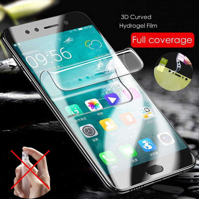 Protector de pantalla de hidrogel película para Xiaomi Redmi 6 Pro Nota 7 K20 Pro 7A película protectora no de vidrio