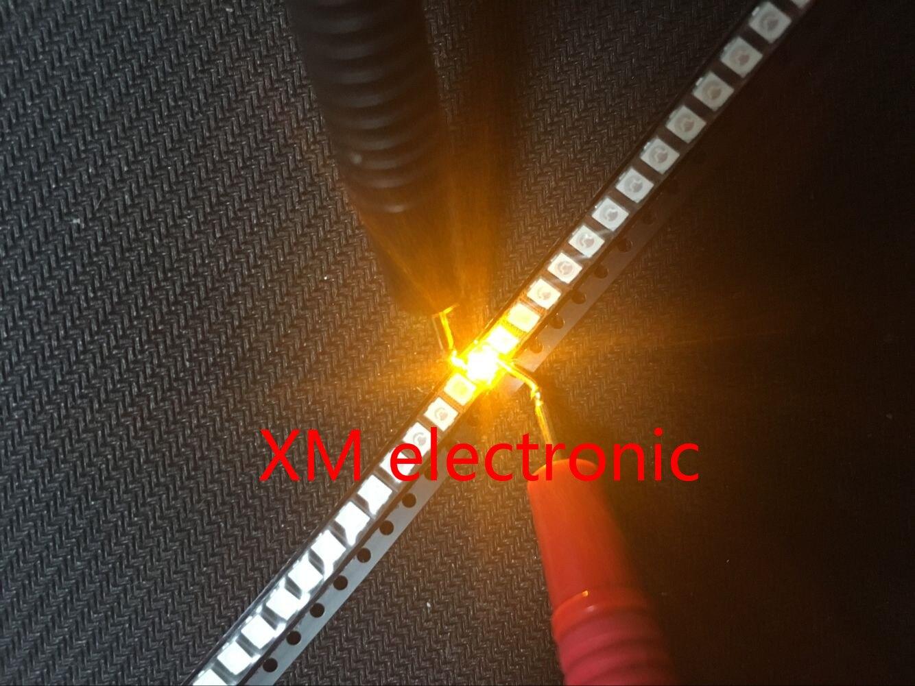 100 pces power top 1210 3528 amarelo smd smt PLCC-2 1500mcd ultra brilhante led novo