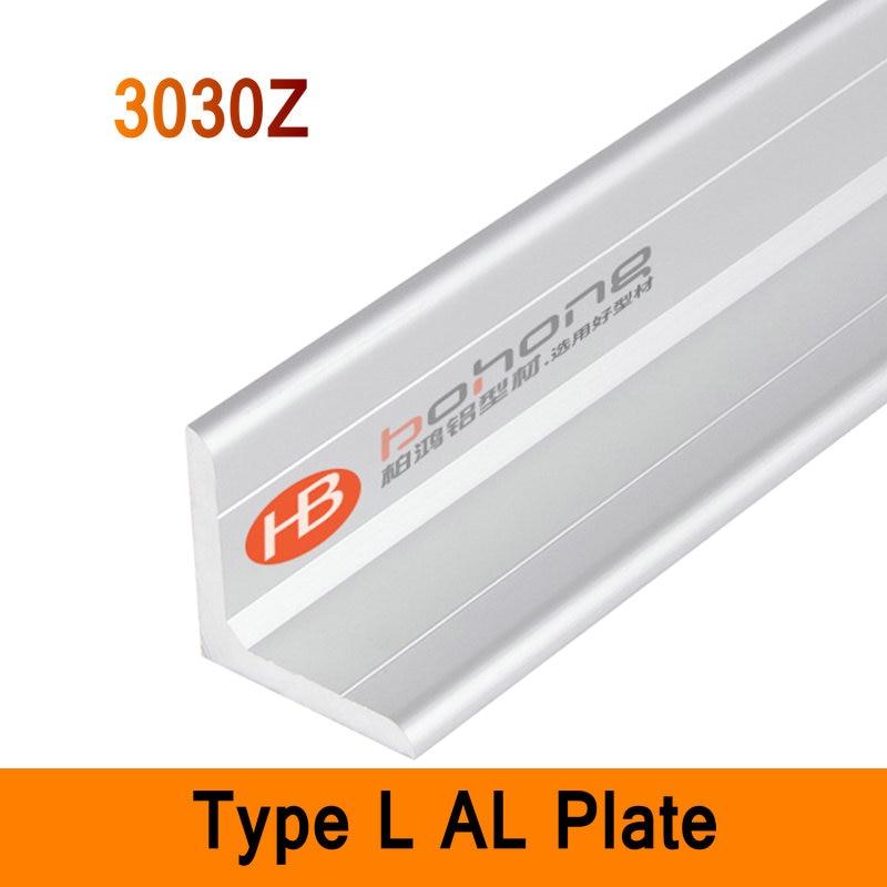 3030Z Type L Aluminium Profile Long Angle Plate EN Standard DIY Brackets AL 3D DIY Printer Frame Metal Connector Workbench