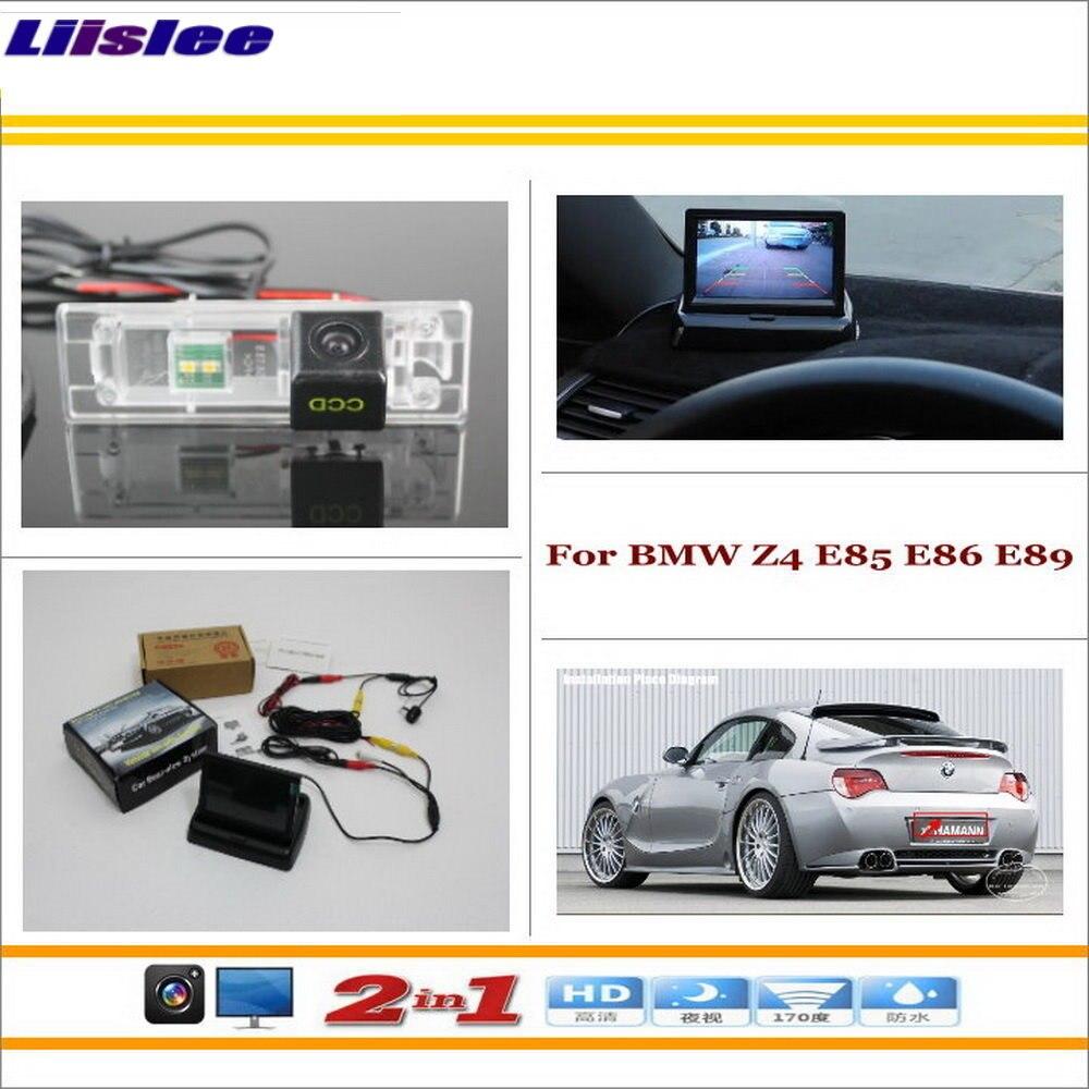 """Liislee para BMW Z4 E85 E86 E89 cámara trasera para coche + 4,3 """"TFT LCD Monitor de pantalla = 2 en 1 Sistema de aparcamiento de respaldo"""