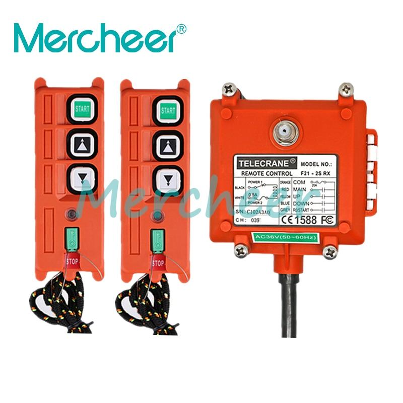 جهاز إرسال 2 + 1 عالي الجودة جهاز تحكم عن بعد للرافعة الكهربائية الصناعية اللاسلكية جهاز التحكم عن بعد للونش/الرمل