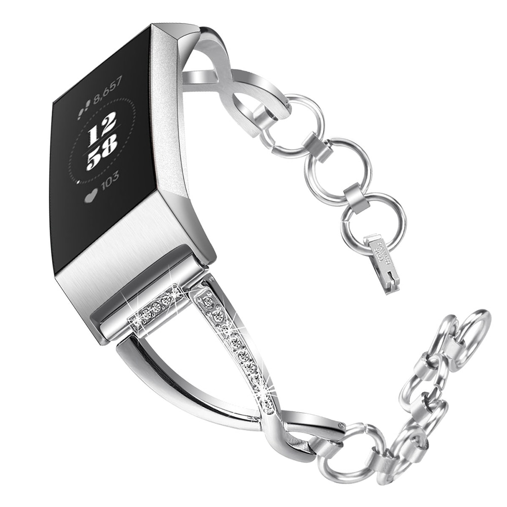 Модный Ювелирный ремень, браслет для Fitbit Charge, 4 ремешка, сменный ремешок для Fitbit Charge4 Charge 3 3se, аксессуары для ремня
