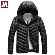 2020 nueva chaqueta de plumón de pato para hombre Otoño Invierno chaquetas con capucha Ultra livianas y finas de talla grande chaquetas abrigadas informales para hombre abrigo de marca para hombre