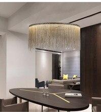 ZYY Postmodern fer gland lustre de luxe nordique grand Hall éclairage en aluminium chaîne salon Restaurant pendentif LED lampe