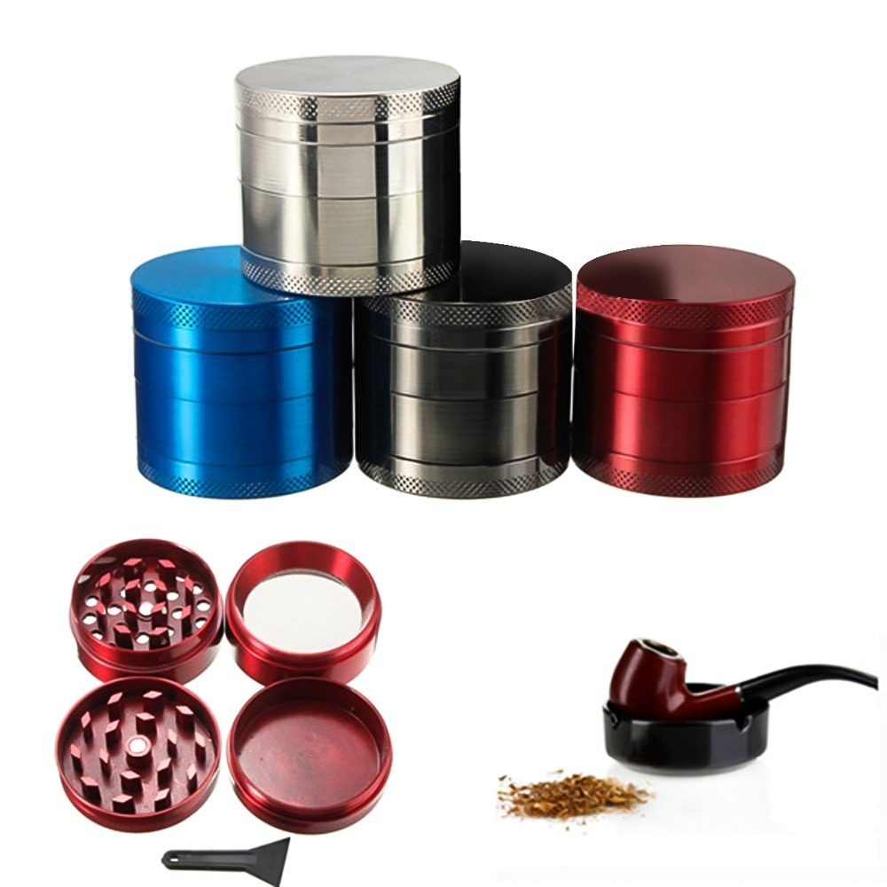 1pc 4 warstwy Broken Smoke Grinder Metal młynek do tytoniu fajka Herb Grinders Weed Spice Cutter łatwy do przenoszenia