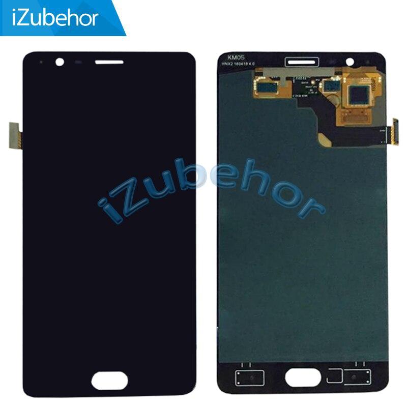 LCD OLED de 5,5 pulgadas para OnePlus 3 3T MONTAJE DE digitalizador con pantalla táctil para One Plus A3010 blanco y negro envío gratis