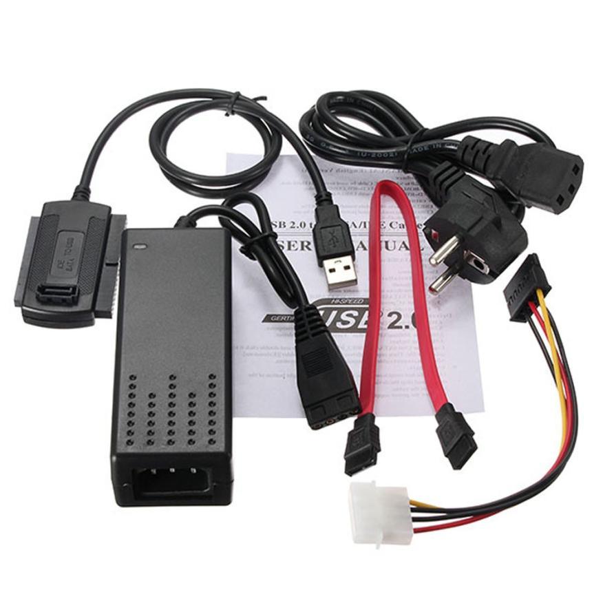 HIPERDEAL nuevo USB 2,0 a SATA IDE cable para disco duro HD adaptador HDD W de potencia 18Mar27 de la nave de la gota F