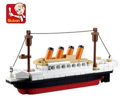 194pcs Sluban 0576 Educational Building Blocks Titanic Ship bricks Toys Boat Model Kids Boys Gift for children