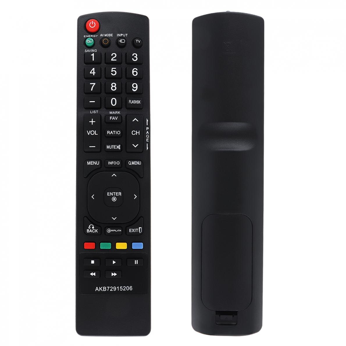 Negro 433MHZ IR Smart TV Control remoto adecuado para LG AKB72915206 / AKB73655806 / AKB72915266 TV batería no está incluida