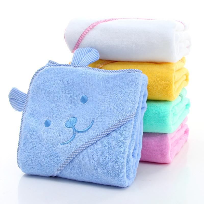 Банное полотенце для новорожденных, удобный мягкий банный халат с капюшоном для детей, Пляжное Хлопковое полотенце с милыми животными, детское одеяло