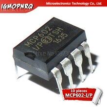 10 pièces MCP602-I/P MCP602 DIP8 2.7V à 5.5V unique alimentation CMOS Op ampères nouveau original