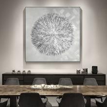 Toile acrylique argentée à lhuile Style nordique   Peinture à lhuile, décoration moderne de Texture abstraite, Art mural pour salon