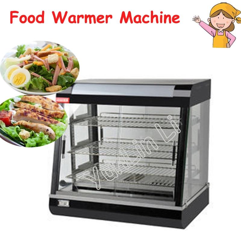 Calentador de alimentos eléctrico, armario comercial de tres capas para preservación auditiva, vitrina caliente para comida, vitrina calefactora para comida, FY-601