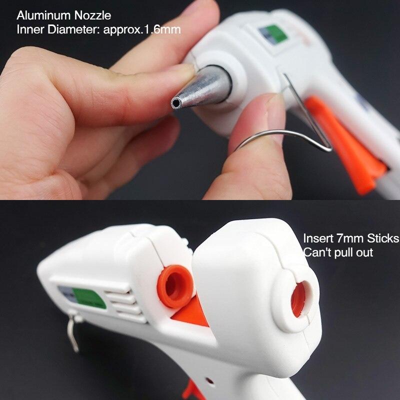Free Shipping 40W Glue Gun Set Electric Heat Hot Melt Crafts Repair Tool Professional DIY 110-240V 40W Gift