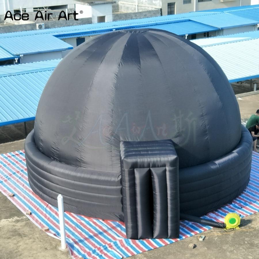 شحن مجاني 6 متر القبة السماوية القابلة للنفخ ، تصنيع قبة تعليم علم الفلك المدرسي مع 5 حلقات لجهاز العرض في الداخل