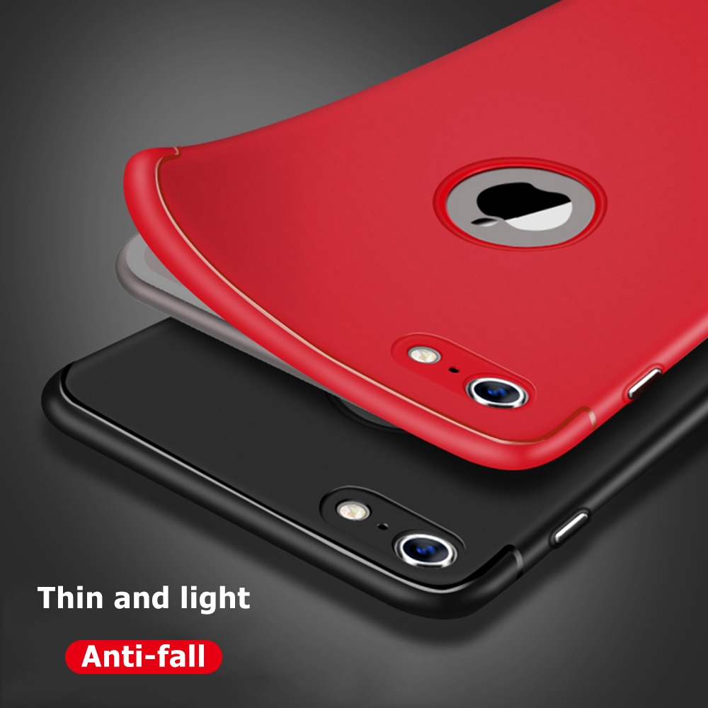 Botón mate carcasa para iPhone 6 DE TELÉFONO 6S 7 8 Plus X suave TPU silicona trasera 8 funda para iPhone 7 Plus 10 fundas protectoras Coque