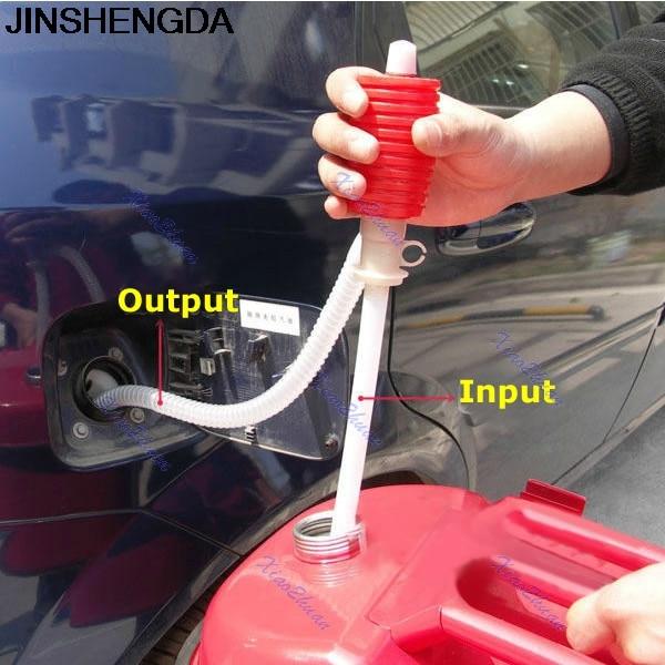 Manguera de bomba de sifón Manual portátil para coche JINSHENGDA, aceite de Gas, bomba de transferencia de sifón líquido