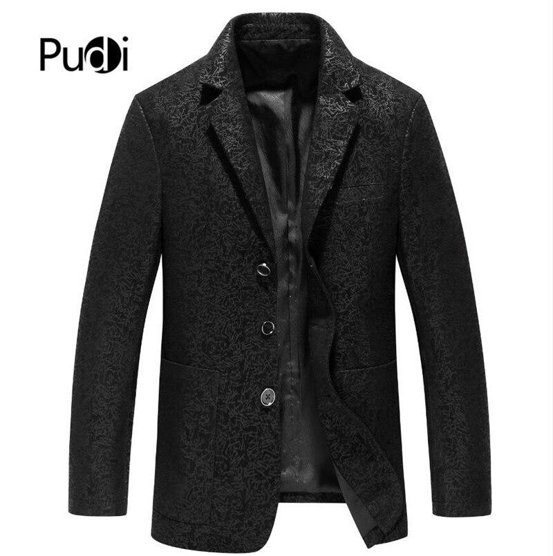 Pudi MT903 2019 جديد الموضة للرجال جلد طبيعي جلد الغنم سترة جلدية معطف غير رسمي شتاء دافئ جودة عالية