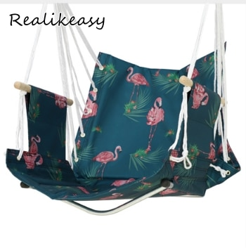 Hamaca Multicolor para jardín, playa, Patio, hamaca de estilo nórdico, silla colgante, columpio transpirable, parque de adultos informal LFB1