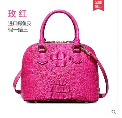 yuanyu New crocodile leather handbag for lady. Genuine imported crocodile leather handbag for lady. Handbag crocodile shell bag