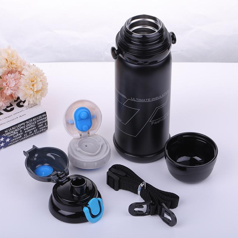 800 مللي الرياضة المحمولة في الهواء الطلق زجاجة تُرمُس زجاجة ماء للدراجة تسلق التنزه شرب إبريق كوب Garrafa Agua Bolsa U0082