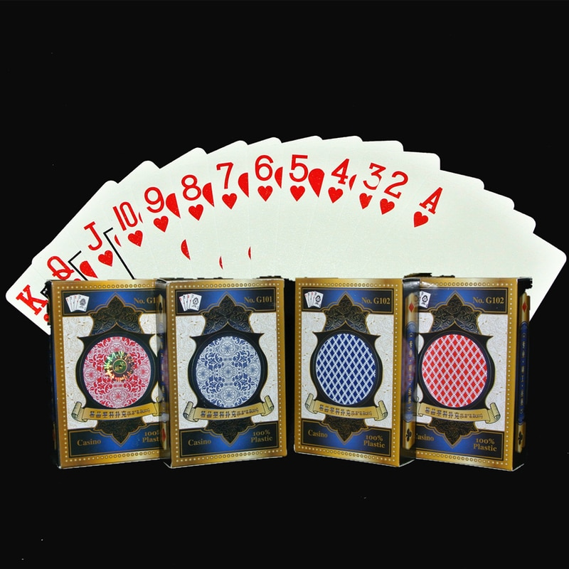 Cartas de plástico resistentes al agua y al desgaste profesionales con código de esquina estándar de póker 1 Uds.