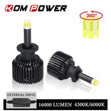 KOM POWER Auto lámpara Led faros H1 Led Bombilla Kit 360 grados luz completa H7 H8 H9 H11 LED coche luz 4300K 6000K 16000LM