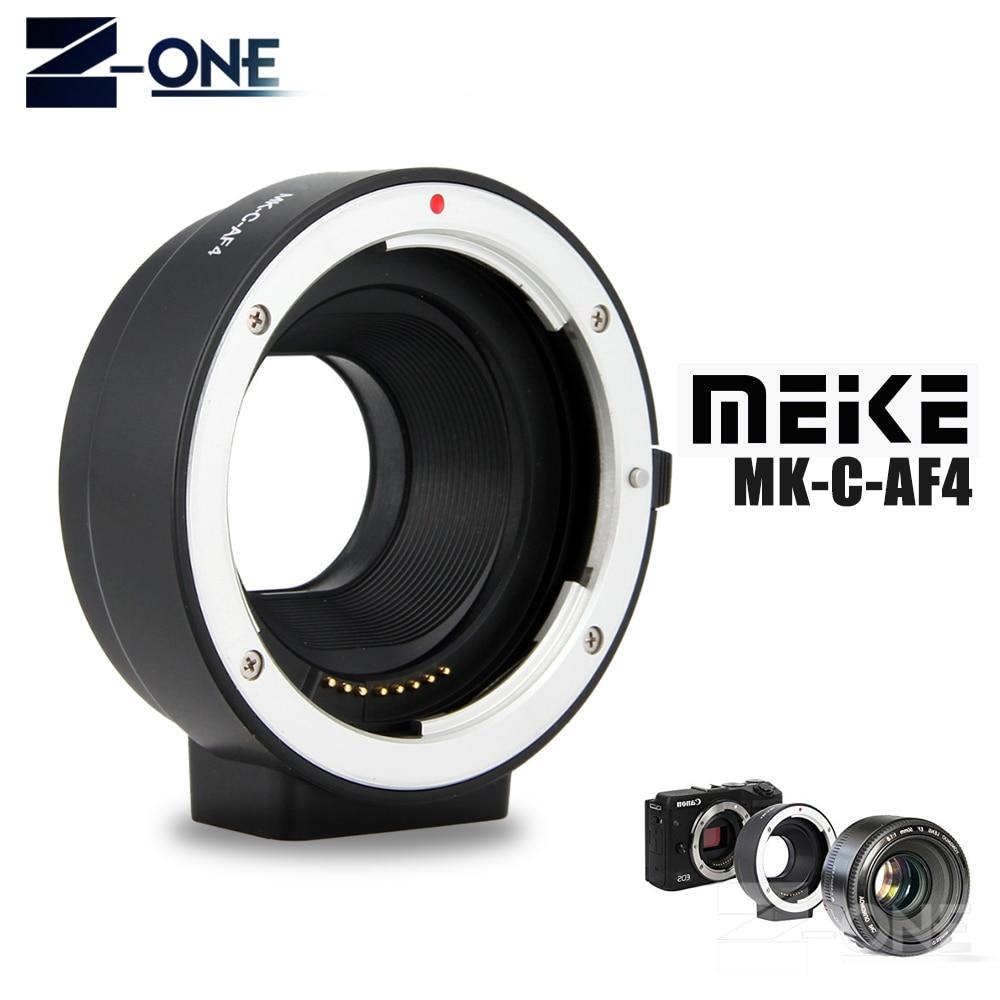 Meike MK-C-AF4 adaptateur de mise au point automatique électronique pour objectif Canon EF EF-S vers EOS M M1 M2 M3 M5 M6 M10 M50 M100 support de EF-M