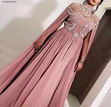 Caftán de Dubái árabe, vestido de noche de chifón 2019, vestido de fiesta barato para mujer, vestido Formal de fiesta de graduación, hecho a medida de talla grande