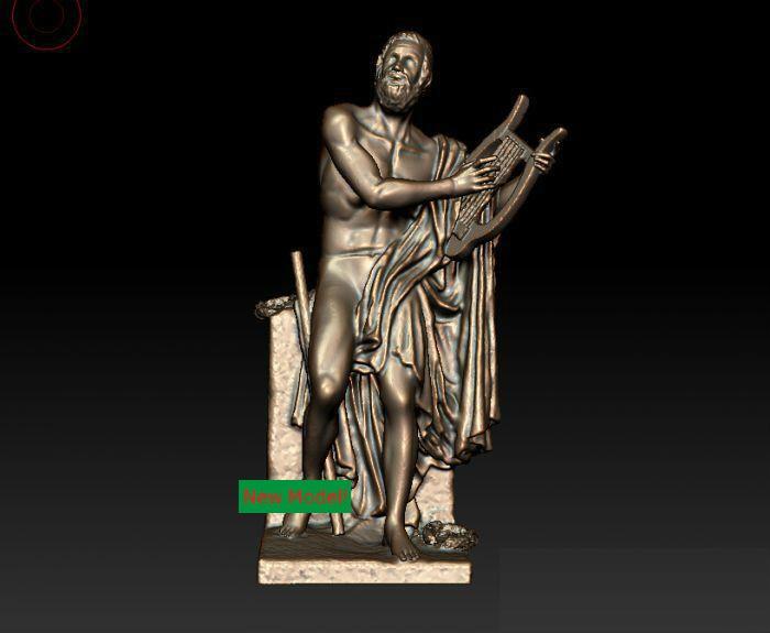 Modelo 3D para cnc 3D CNC máquina en formato de archivo STL antiguo griego poet
