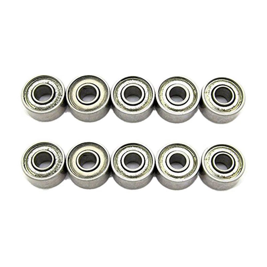 3x8x4mm rodamiento de acero en miniatura 693ZZSkateboard rodamientos de bolas de ranura profunda paquete de 10