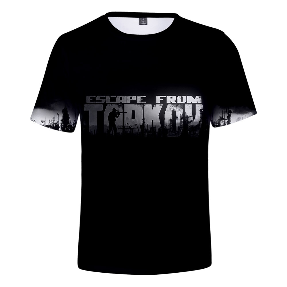 Moda Escape de Tarkov 3D hombres/mujeres 2019 camiseta Escape de Tarkov 3D Camiseta de manga corta verano Super Hot Online Game