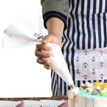 Wielokrotnego użytku 100% bawełniane płótno ciasto kremowe lukier torby do pieczenia ciasta torebki do wyciskania kremu ciasto dekorowanie narzędzia 35cm 40cm 46cm 50cm