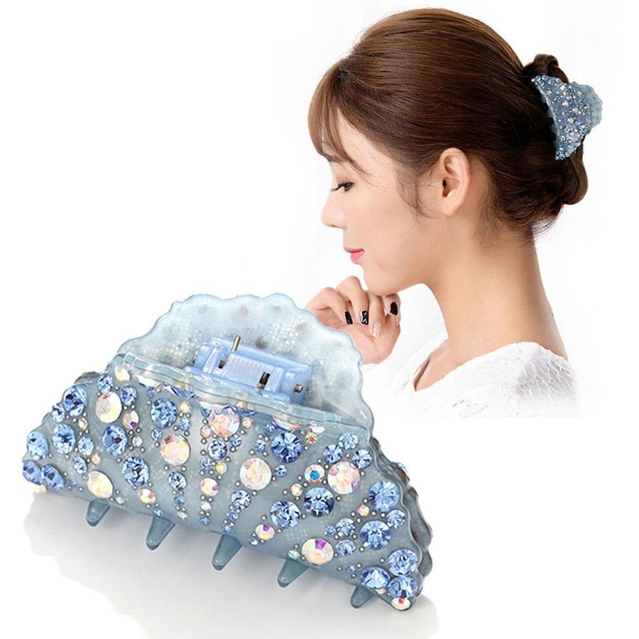 Hair Claw - Large Hair Clamp - Acetate Rhinestone Hair Accessories - Big Hair Jewelry Ornament for Women Girls - Tiara Bridal