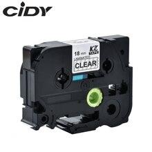 CIDY Tze 145 Tz145 wit op clear gelamineerd Compatibel P aanraking 18mm tze-145 tz-145 tze145 Label Tape Cassette Cartridge
