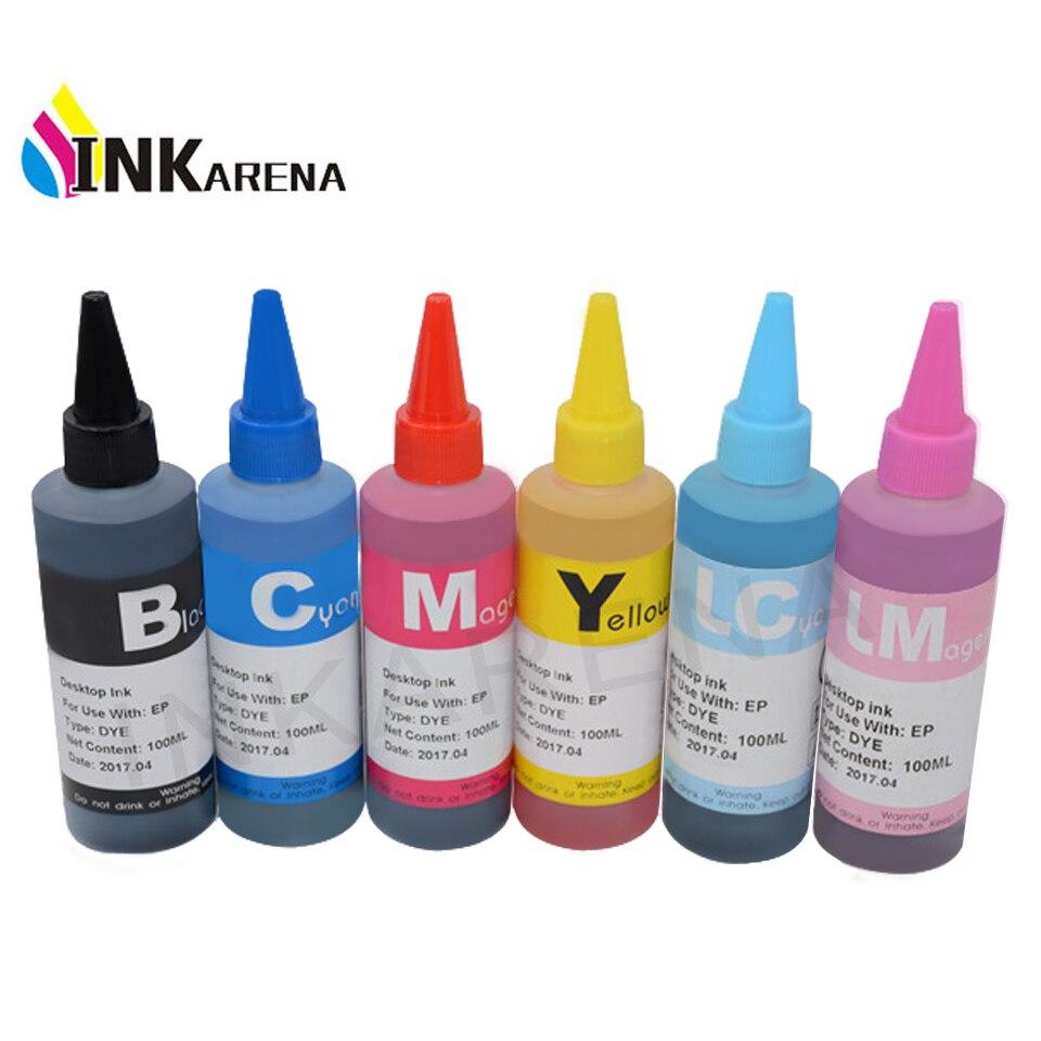 Заправка чернил для принтера Epson чернил Stylus Photo T50 R290 R295 R390 RX590 RX610 RX615 RX690 1410 TX650 TX659 краситель чернил 100 мл бутылка