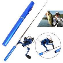 Outdoor Mini Camping Travel Baitcasting Telescopic Pocket Pen Shape Fishing Rod + Reel+ Fishing line New Arrival