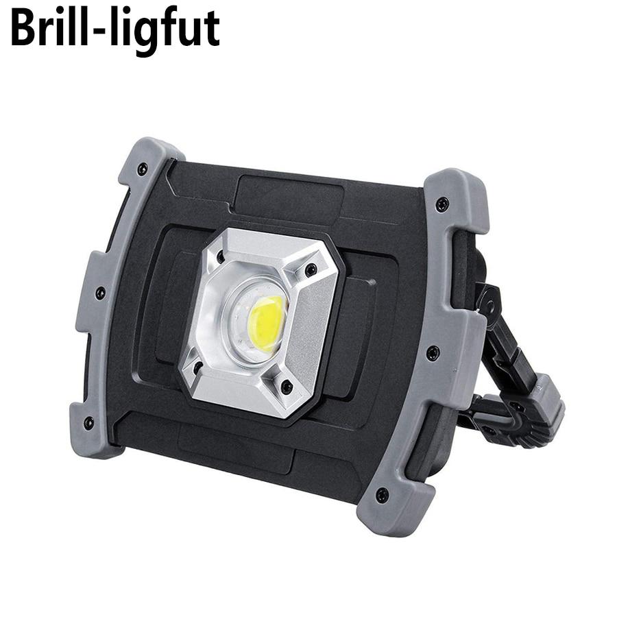 Linterna portátil COB de 20 W, foco Led recargable por USB, lámpara de trabajo, linterna de emergencia, luz exterior para caza, Camping, senderismo