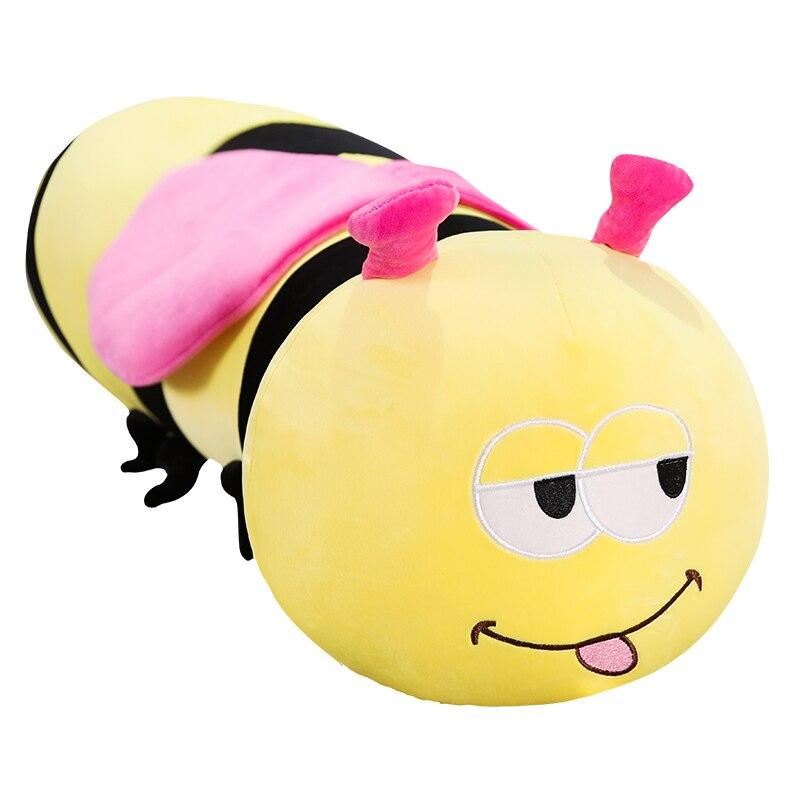Новая мультяшная милая плюшевая искусственная подушка, Мягкая Милая подушка, супер мягкая Набивная игрушка, пчела, кукла, подарок на день ро...