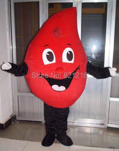 Disfraz de Mascota de gota roja de sangre, disfraz de disfraces de Halloween, disfraz de Mascota de fantasía para la fecha de San Valentín