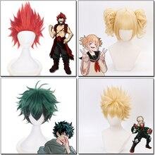Mon héros académique Cosplay perruque jeu de rôle Kirishima Eijirou/Shinsou Hitoshi/Todoroki Shouto/Ashido Mina/Dabi cheveux perruque costumes