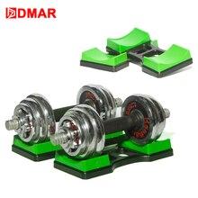 Dmar 1 par halteres rack titular suporte para casa de fitness pequena mulher crossfit corpo construção equipamentos exercício