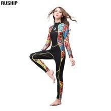 Hisea Frauen 3 mm SCR neopren neoprenanzug Hohe elastizität nähte Surf Tauchen anzug Ausrüstung Quallen kleidung lange ärmeln