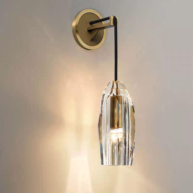 Americano de lujo cobre E14 de pared Led bollos Lustre de cristal tonos de pared Led lámpara de pared lámpara de iluminación
